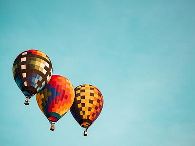 The 3 categories of performance testing metrics you need to measure - 3 hot air balloons image