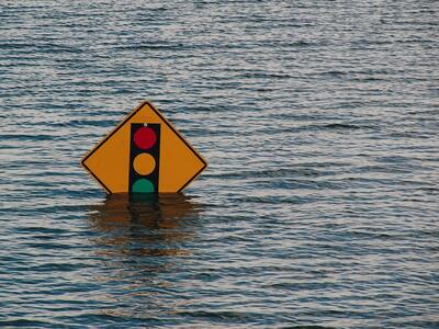 OnPath Testing - A traffic sign under water