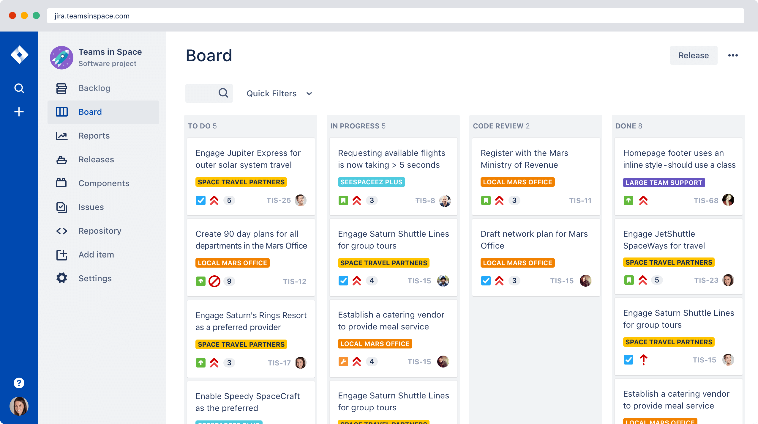 Jira screenshot issue and project tracking Atlassian