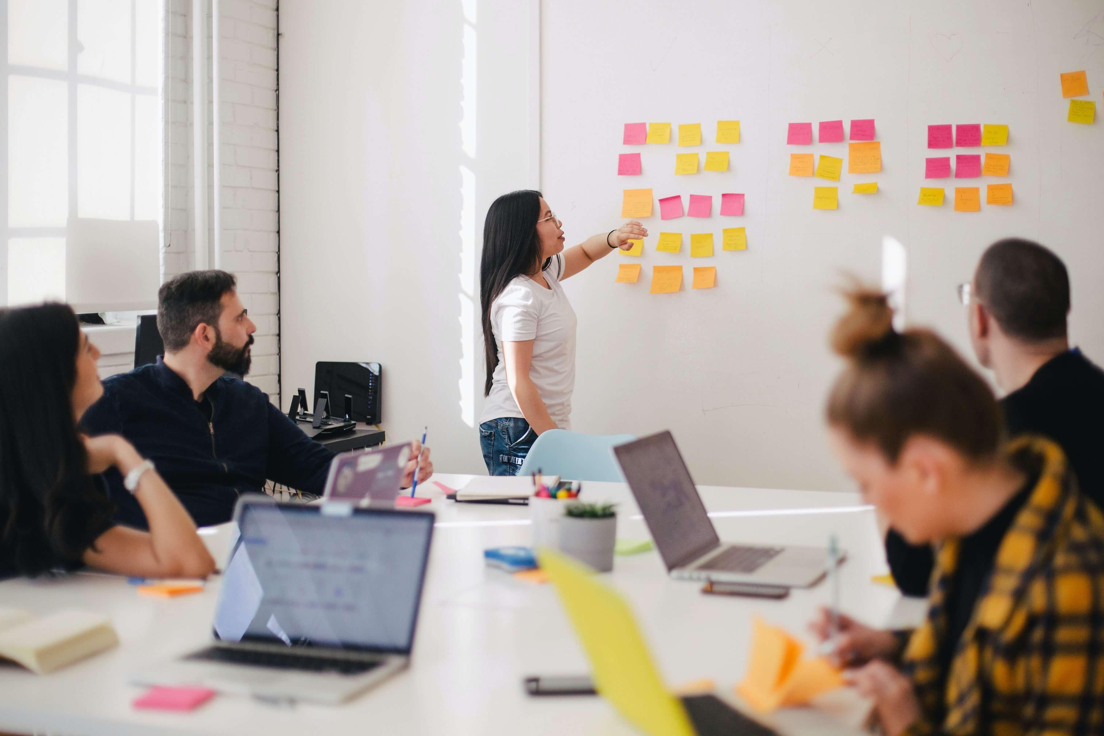 Team implementing agile development cycle. Benefits of Behaviour Driven Development.